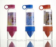 transparent fruit infusion bottle,BPA FREE,PDA,SGS