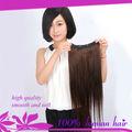 2014 venta caliente mejor brasileña extensión del pelo recto baratos 100% clip del pelo humano en la extensión del pelo