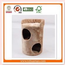 new indoor cat tree&sisal pet care product& pet toys with caveOEM Cat Furniture Luxury Plush And Wood Cave Cat Room