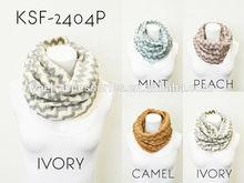 2014 Fashion Wave Pattern Acrylic Scarf Knit Scarf