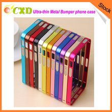 Ultra-thin Slim 0.7mm Metal frame Bumper Cover Free Hippocampal Buckle Phone Case For iphone5 5s