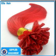 1g Straight Fashion Red Human Hair Extensions No Shedding Good Feeling U-tip Hair Cheap Indian Hair