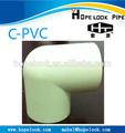 cpvc instalación de tuberías codo 90
