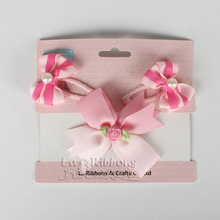 Baby Girl's Headbands With Hair Clips Set,Ribbon Bows For Kids Hair Accessories