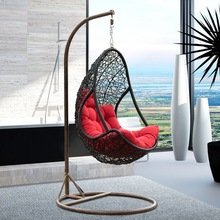 Indoor rattan wicker hanging egg chair,egg shaped swing chairs