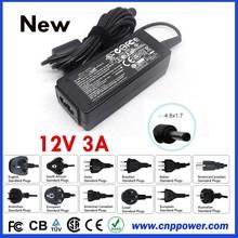 Genuine Original for Asus Laptop AC Adaptor 12V 3A 36W 4.8x1.7mm for Asus Eee PC 1000HA 1000HC 1000HD 1000HE 1000HG AC Adapter
