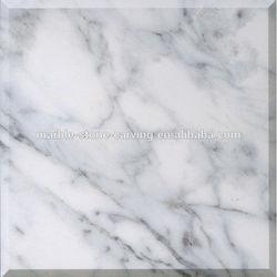 Venata White White Polished Marble Flooring Tiles SFT41