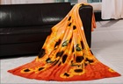 High quality coral fleece blanket printed autumn and winter thermal bedding sheets