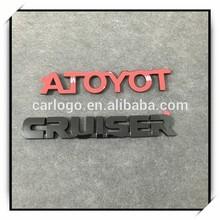 ABS letters, chromed badges, car logos