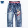 ( b5266y) fabricación china los niños usan los niños pantalones vaqueros bordados 100% venta al por mayor de algodón pantalones