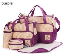 wholesale 5pcs/set 2015 Multi-function mummy bag/ baby diaper bags