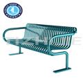 Alta qualidade de mobiliário de rua ao ar livre, bancos pátio bancos ao ar livre, móveis de metal ao ar livre
