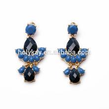 wholesale fashion cheap resin teardrop fan earring accessory