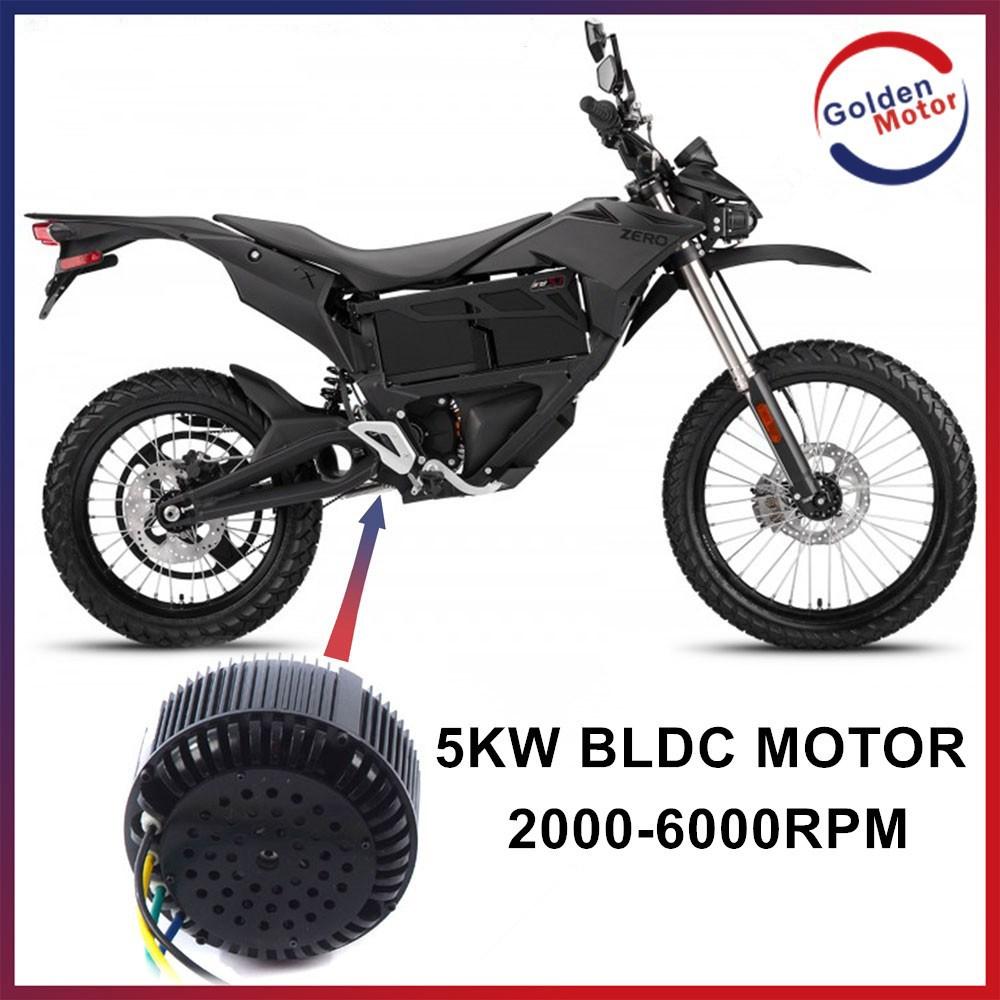 Dc Brushless Electric Motorcycle Motor 5kw 48v 72v 96v