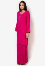 2015 Malaysia new design Cotton Mix Shantung Silk model baju kurung