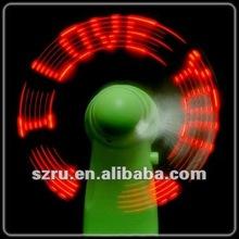 2012 mini red color led flashing fan manufacturer
