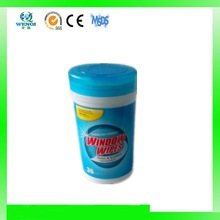 Canister pack window & glass wet wipes for US market