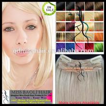 Synthetic Hair Clip In Streaks