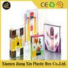 Custom transparent hard pvc folding small clear plastic box,make-up plastic box
