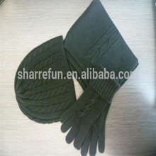 100% Custome Pure Cashmere Scarf Glvoes and Hat set