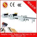 Máquina de la carpintería de china de control del plc de la semi- automatico placa de revestimiento línea de producción de la máquina jianchi