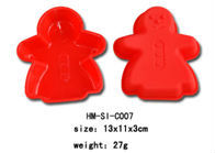 red color silicone girl shaped cake mould and molds
