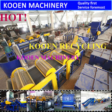 Various capacity pe pp waste film recycling line/pp bag recycling line