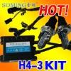 New!hid Xenon car lights Kit H4 H/L/H4-3/12V/35W/4300-12000K/3200lem/quality warranty Kit