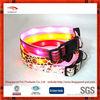 New design custom nylon led flashing glowing dog collar