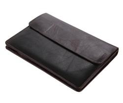 8038C Classic Coffee Vintage Leather Mini Wallet Men's Purse Key Case Unisex Hand Bag Fit For Mini Ipad