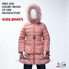 2015 European Design Long Warm Children Duck Down Spring Jacket