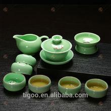 wholesale promotional chinese ceramic tea sets grace fairly funky china gong fu porcelain celadon kung fu gaiwan fish tea set