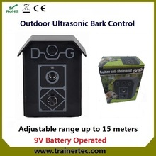 Outdoor ultrasonic bark control with CE