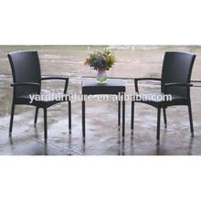 (RY-0033C) Aluminium Rattan weaving Cafe Chair