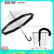 Straight promotional umbrella / transparent umbrella price