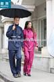 Oem trench impermeable de trabajo de la capa trajes de desgaste capa de lluvia con banda reflectante impermeable de la chaqueta