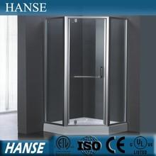 HS-SR863 luxury corner aluminum frame diamond shape glass shower box