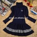 descuento grande nueva llegada simple niños vestidos para niñas chica nuevo diseño suéter suéter de lana de diseño para la niña