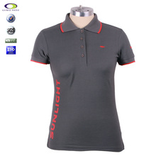 Grey CUstomized CVC TC 100%cotton high quality embroidered polo