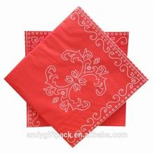 Custom printed decorative disposable wedding paper serviettes wholesale