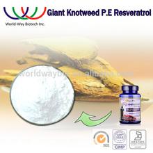 Bulk resveratrol 98%,free sample HACCP Kosher FDA HPLC 98% resveratrol giant knot weed extract,nature resveratrol