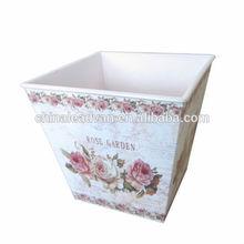 Decorative Metal Paper Decal Flower Pot Wholesale