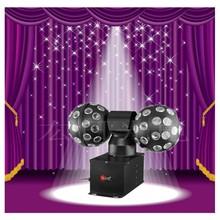 double rgb LED crystal magic ball light/halloween projector light