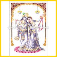 Religious 3d lenticular flip picture,3d moving picture,3d hindu god picture