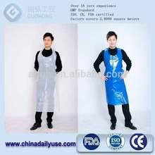 convenient disposable plastic pe apron with CE,ISO certificate