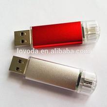 2014 new fashional style high quality otg USB flash drive/andriod usb drive/mobile phone usb flash drive for pormo giftsLFN-OTG2