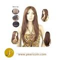 Handtie completo de alta calidad asequible sin procesar 100% chino virgen de pelo natural textura sedosa llenas del cordón pelucas mono superior