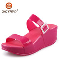 chun 2015 xia zapatos de última moda transparente jalea zapatos de la señora de ocio zapatillas mujer zapatillas