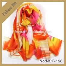 Hot fantasy sunset glow scarf 100% wool scarf pashmina shawl