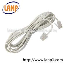6P4C Modular White RJ11 Telephone Cable
